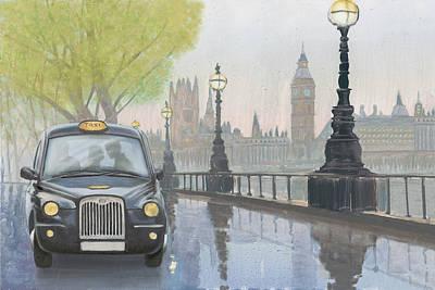 Along The Thames V.2 Poster by Myles Sullivan