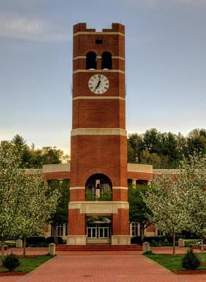 Alumni Clock Tower At Wcu Poster by Greg Mimbs