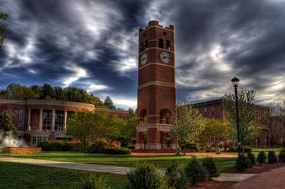 Alumni Tower-wcu Poster by Greg and Chrystal Mimbs