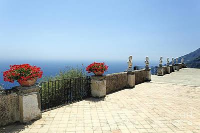 Amalfi Coast Terrace Vista Poster by George Oze