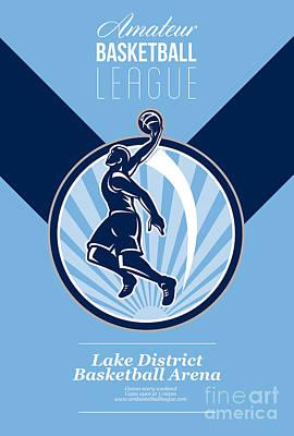 Amateur Basketball League Retro Poster Poster by Aloysius Patrimonio