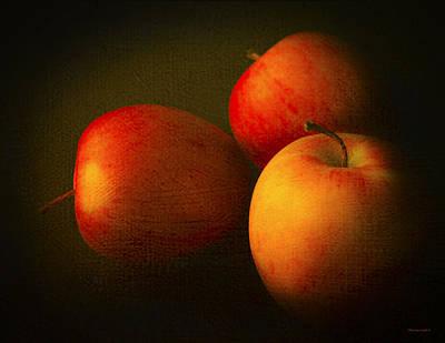 Ambrosia Apples Poster by Theresa Tahara