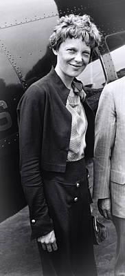 Amelia Earhart - 1932 Poster by Daniel Hagerman