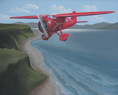 Amelia's Lockheed Vega Poster by Stuart Swartz