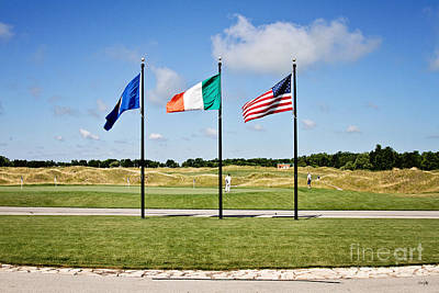 American And Irish Flag Poster by Scott Pellegrin
