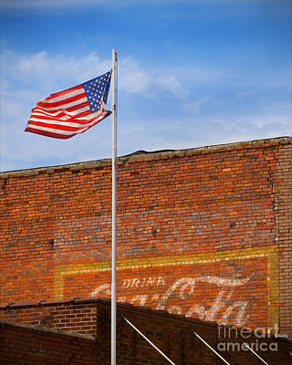 American Classics - Flag And Coke Poster by T Lowry Wilson