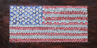 American Flag Poster by Kay Galloway