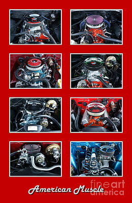 American Muscle Red Poster Poster by Olivier Le Queinec