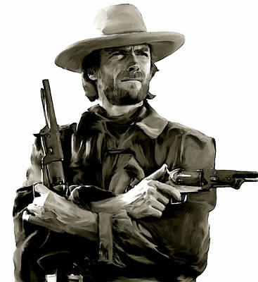American Outlaw V Clint Eastwood Poster by Iconic Images Art Gallery David Pucciarelli