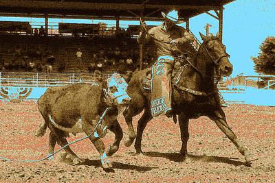 American Rodeo - Western Digital Art Poster by Art America Online Gallery
