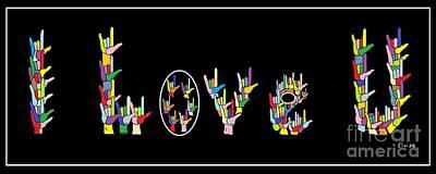American Sign Language I Love U   Poster by Eloise Schneider