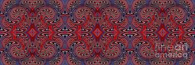 Americana Swirl Banner 1 Poster by Sarah Loft