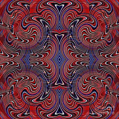 Americana Swirl Design 4 Poster by Sarah Loft