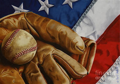 America's Pastime Poster by Cory Still