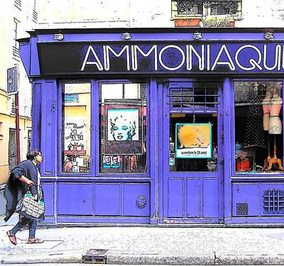 Ammoniaque Boutique In Marais Paris Poster by Jan Matson