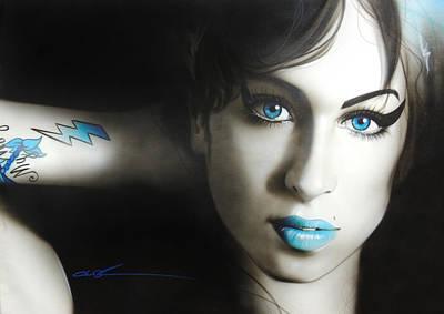 Amy Winehouse - 'amy 'n' Blues' Poster by Christian Chapman Art