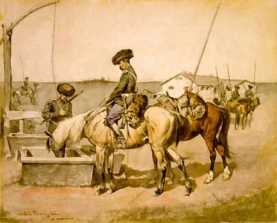 An Amoor Cossack Poster by Frederic Remington