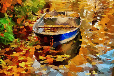 An Autumn Boat Poster by Yury Malkov
