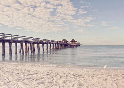 An Early Morning - Naples Pier Poster by Kim Hojnacki