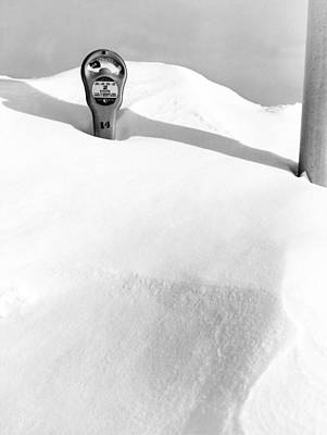 An Expired Parking Meter In The Snow Poster by Underwood Archives