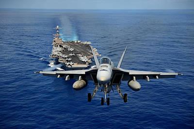 An F/a-18 Hornet Demonstrates Air Power. Poster by Sebastian Musial