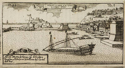 An Illustration Of 18th Century Naples Poster by British Library