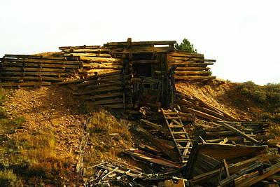 An Old Mine Entrance In Leadville Colorado  Poster by Jeff  Swan