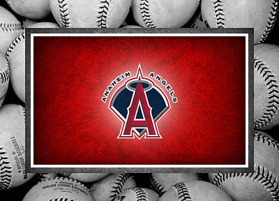 Anaheim Angels Poster by Joe Hamilton