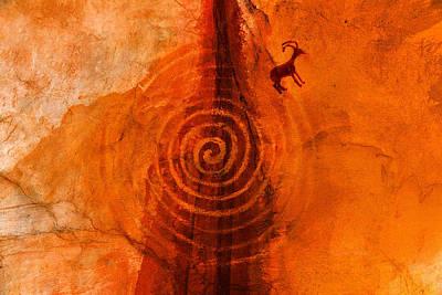 Anasazi Spirals  Poster by David Lee Thompson