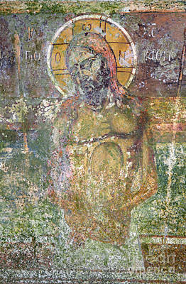 Ancient Christ Icon Poster by Neil Overy