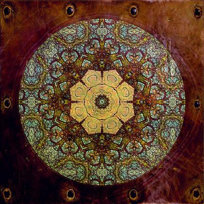 Ancient Gift Of Happiness Mandala Poster by Georgiana Romanovna