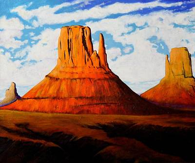 Ancient Land Monument Valley Poster by Joe  Triano