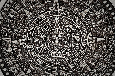 Ancient Mayan Calendar Poster by Brandon Bourdages