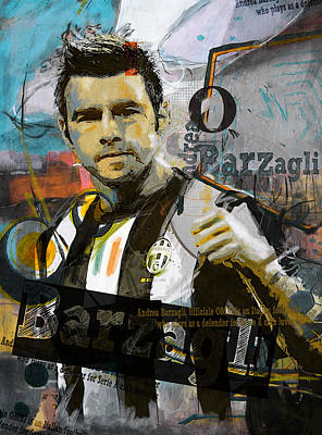 Andrea Barzagli - C Poster by Corporate Art Task Force