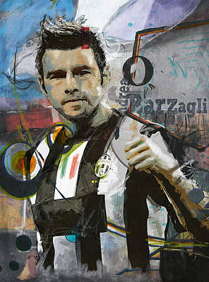 Andrea Barzagli Poster by Corporate Art Task Force