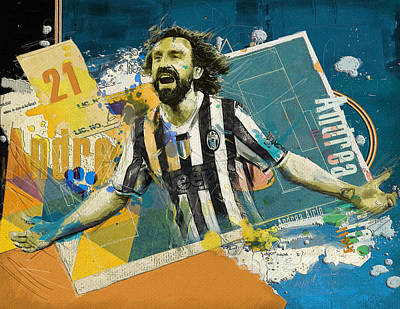 Andrea Pirlo - B Poster by Corporate Art Task Force