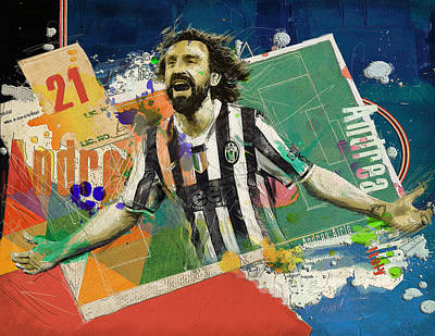 Andrea Pirlo Poster by Corporate Art Task Force