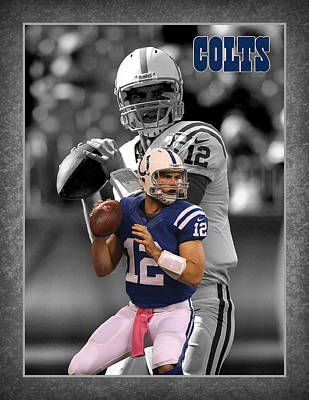 Andrew Luck Colts Poster by Joe Hamilton