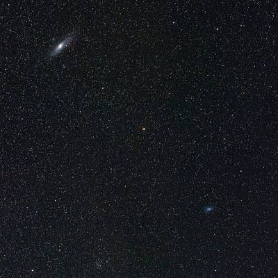 Andromeda And Triangulum Galaxies Poster by Babak Tafreshi