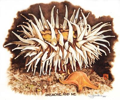 Anemone And Me Poster by Cynthia Adams