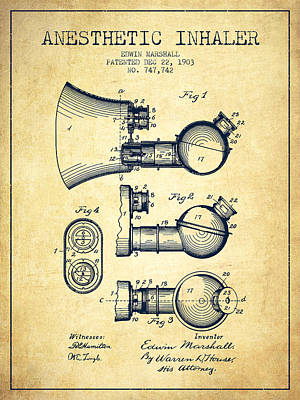 Anesthetic Inhaler Patent From 1903 - Vintage Poster by Aged Pixel