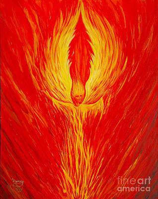 Angel Fire Poster by Nancy Cupp