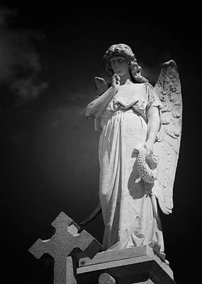 Angel St Louis Cemetery No 3 New Orleans Poster by Christine Till