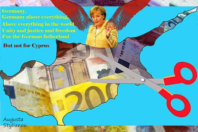Angela Merkel Legal Robbery Poster by Augusta Stylianou