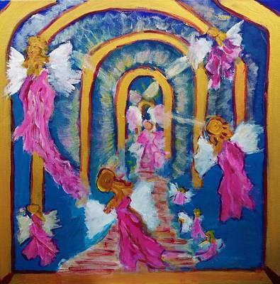 Angelic Portals Poster by Joan Hangarter