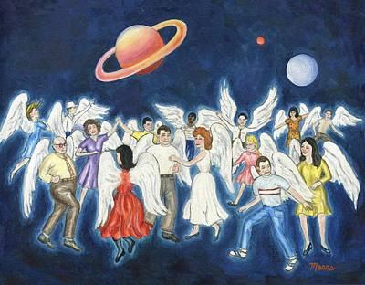 Angels Dancing Poster by Linda Mears