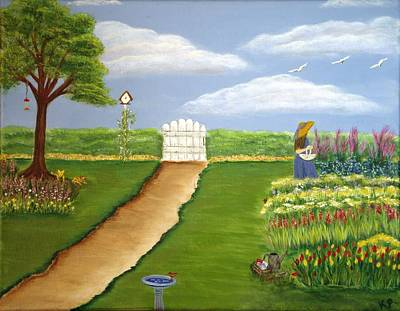 Angie's Garden Poster by Karen Pasquariello