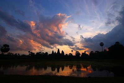Angkor Wat Sunrise Poster by FireFlux Studios