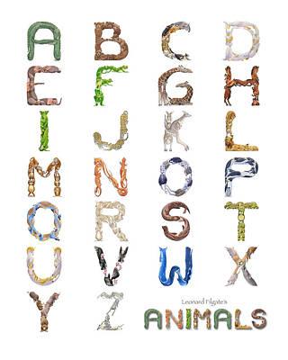Animal Alphabet Poster by Leonard Filgate