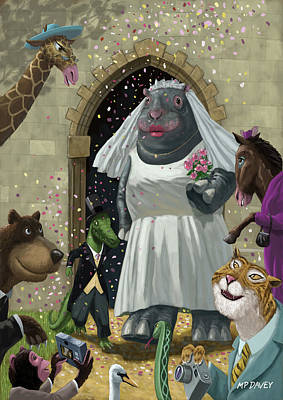 Animal Wedding Poster by Martin Davey